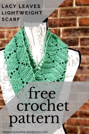 Lacy Leaves Scarf Pattern