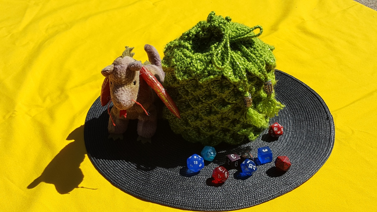 XL Dragonscale Dice Bag