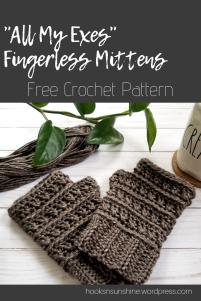 All My ExesFingerless MittenCrochet Pattern (1)