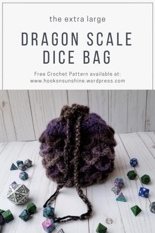 Spring Equinox Dragon Egg Dice Bag